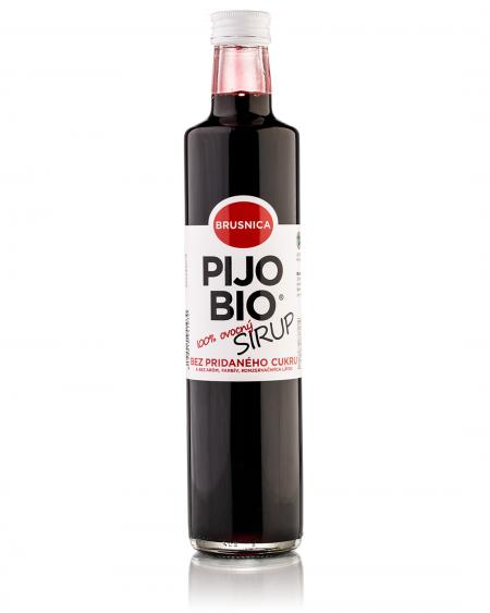Bio sirup bez pridaného cukru BRUSNICA