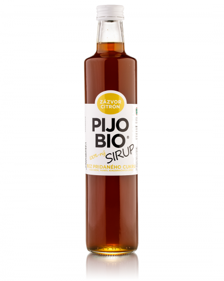 Bio sirup bez pridaného cukru ZÁZVOR CITRÓN
